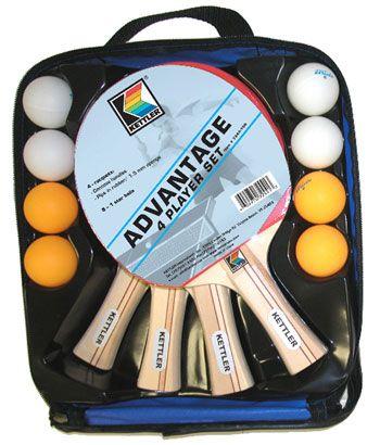 Kettler Advantage 4 Player Table Tennis Racket Set