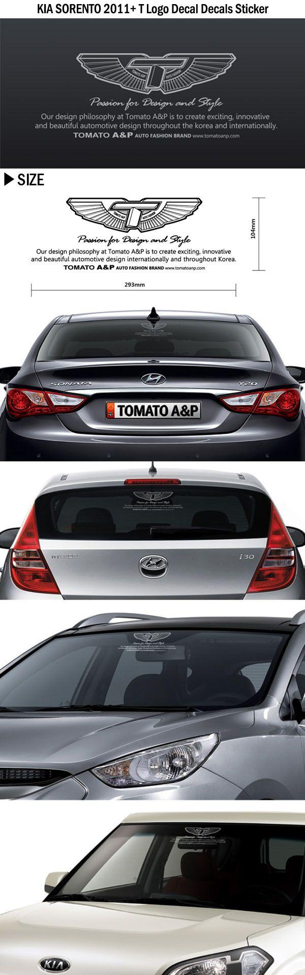 Kia Sorento 2011 T Logo Decal Decals Sticker