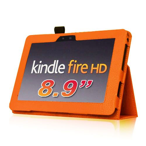 Kindle Fire 8 9 inch PU Leather Folio Case Cover Protector