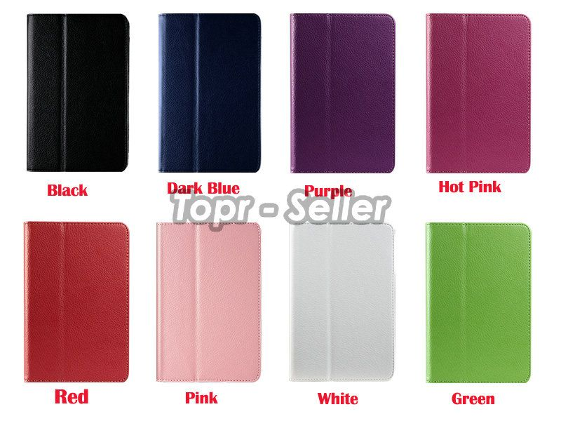 For Kindle Fire PU Leather Case w/ Stand/Car Charger/USB/Stylus Pen