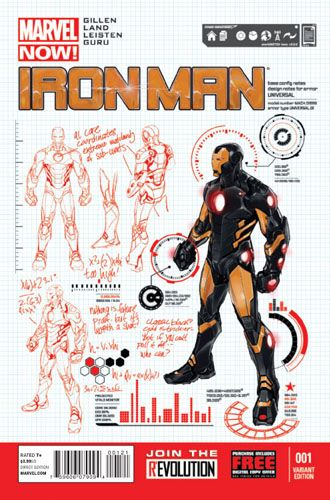 Iron Man 1 Marvel Comics Now 1 25 Pagulayan Design Variant