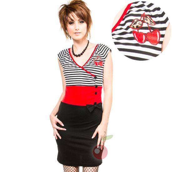 Kool Yer Jets Cherry Dress Rockabilly Pin Up Retro Kustom Kulture