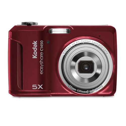 Kodak EasyShare C1450 Red 14MP Digital Camera 16GB Case More Bundle