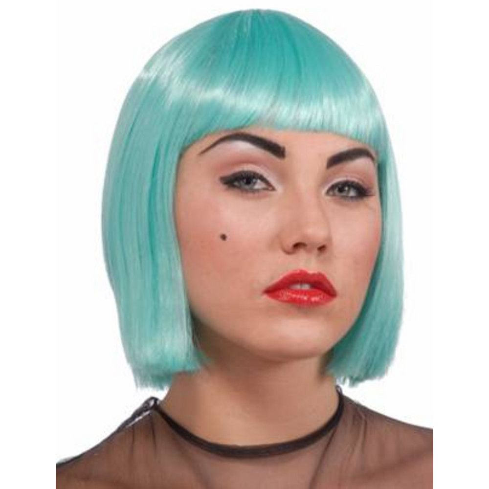 Lady Gaga Turquoise Wig Adult Costume