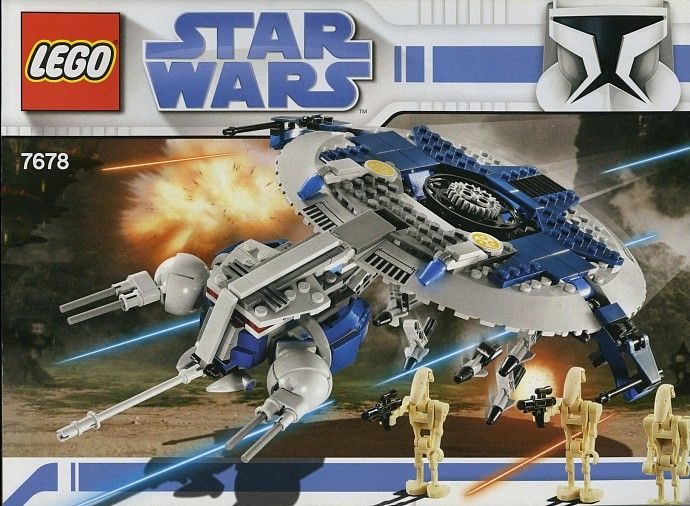 Lego Star Wars Droid Gunship 7678 SHIP 8016 Minifig 6