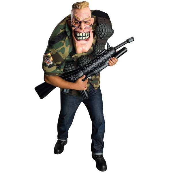 Mens Scary Army Drill Sergeant Halloween Costume