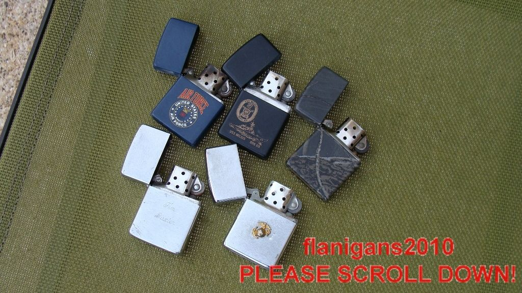 Collection Military Navy Air Force Milius Camo Zippo Lighters