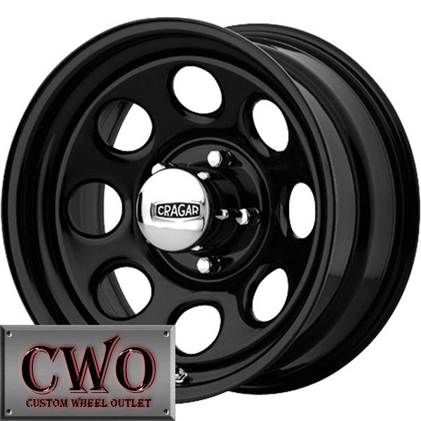 15 Black Cragar Soft 8 Wheels Rims 5x127 5 Lug Chevy GMC C1500 Jeep