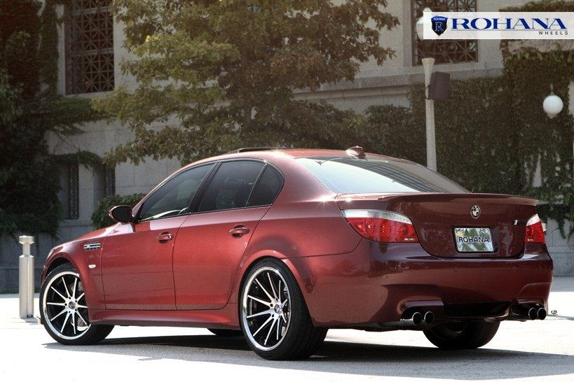 Silver Machined Face Wheels Rims Fit BMW E60 M5 5 Series 2004