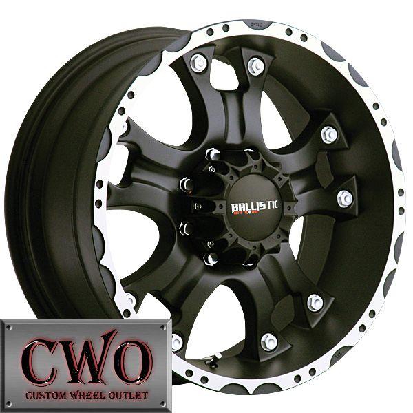 17 Black Ballistic Hostel Wheels Rims 5x127 5 Lug Chevy GMC C1500 Jeep