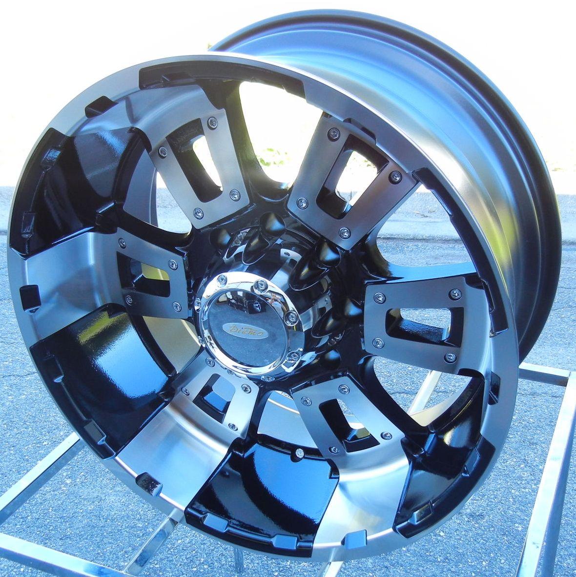 18 DIAMO Karat Black Wheels Rims Ford F250 F350 King Ranch 8x170
