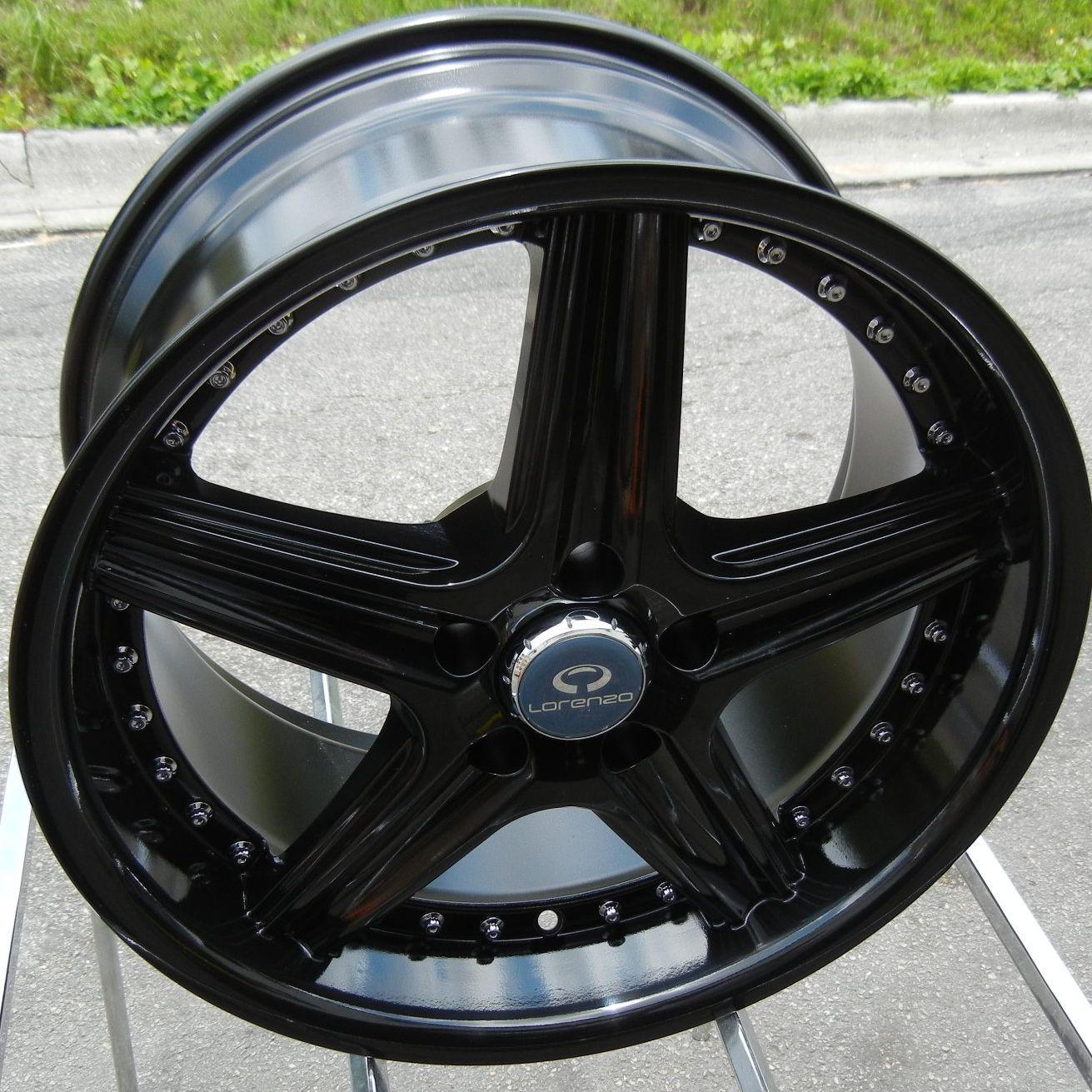 18 Lorenzo WL19 Gloss Black Wheels Rims BMW 1 3 Z3 Z4 x3 x5 Series
