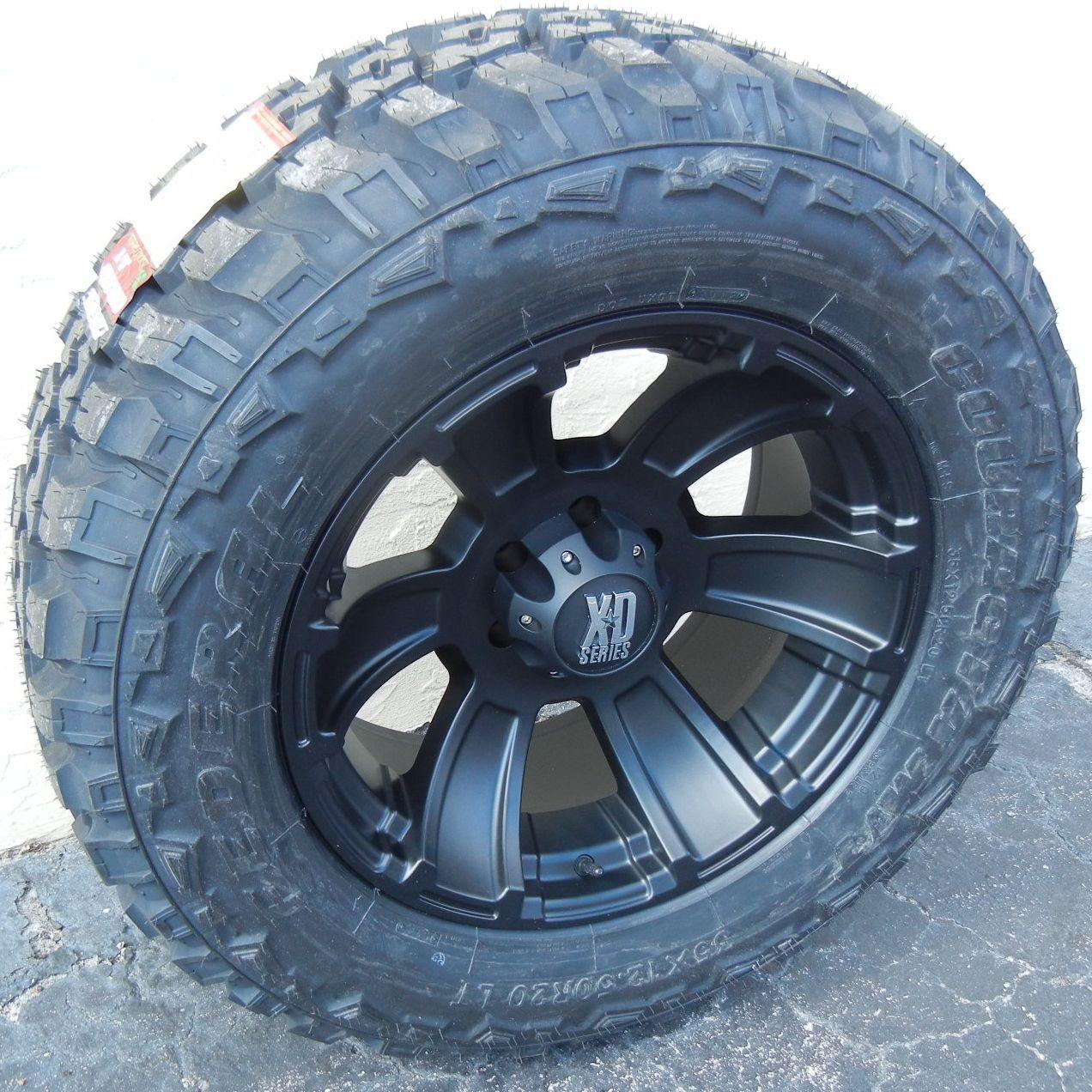 20 XD Revolver Wheels Rim 35 Federal Couragia Tires Chevy GMC Sierra