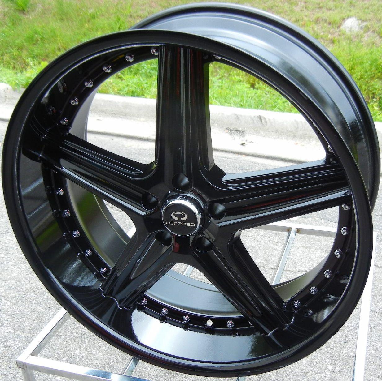 22 Black Lorenzo WL19 Wheels Rim BMW 5 6 7 Series 528 535 550 740 745