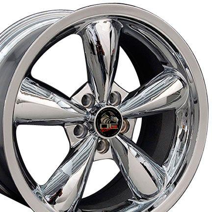 18 9 10 Chrome Bullitt Bullet Style Wheels 05 Rims Fit Mustang® GT