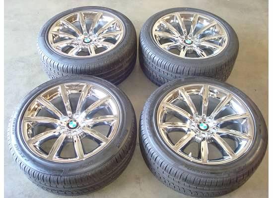 19 BMW 750 745 760 Li WHEELS Rims CHROME TIRES OEM Factory 7 Series L