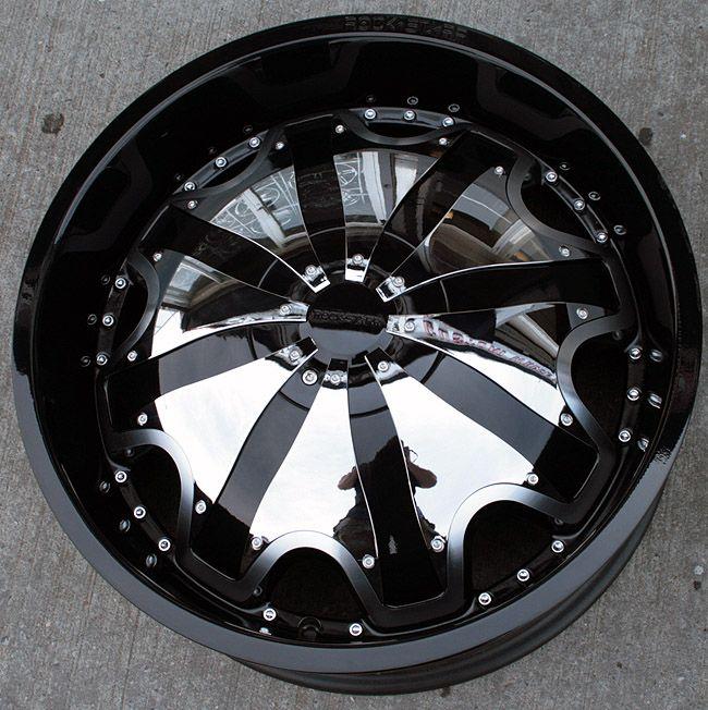 Starr 620 20 Black Rims Wheels Chrysler 300 300C AWD
