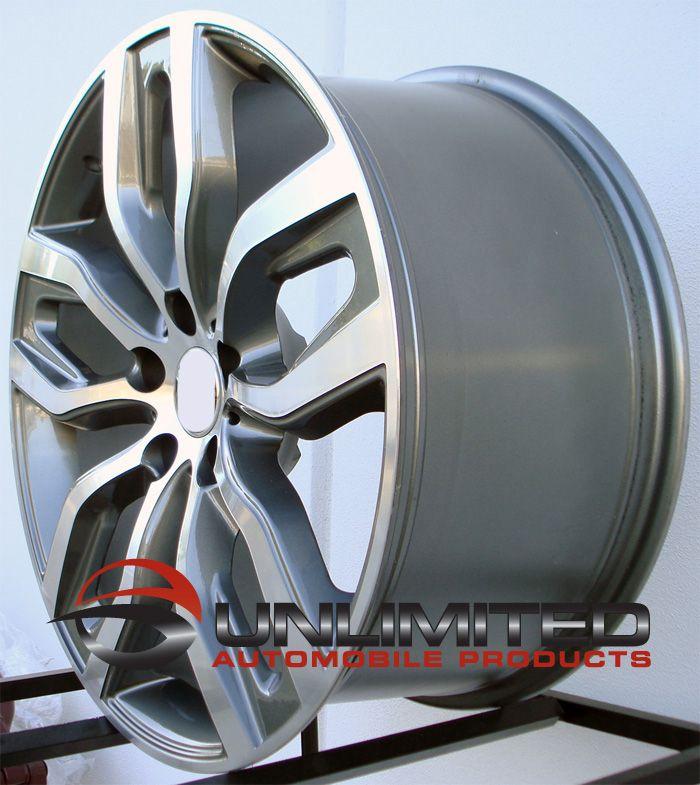 Staggered MATTE BLACK MACHINED FACE Wheels RIMS Fit BMW X5 E53 E70
