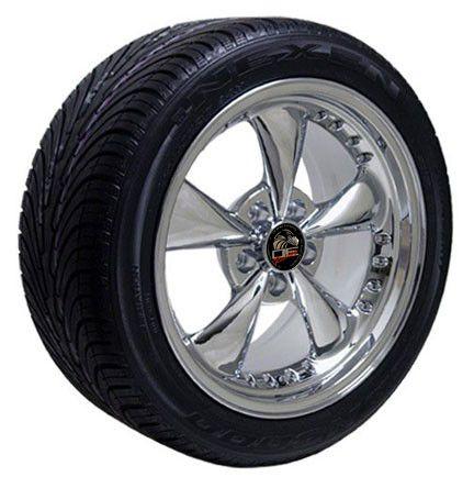 Chrome Bullitt Wheels Nexen Tires Rims Fit Mustang® 94 04