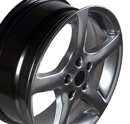 17 Altima Hyper Black Wheels Set of 4 Rims Fit Nissan 300zx Maxima