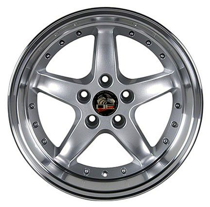 17 9 10 5 Silver Cobra Wheels Rims Fit Mustang® GT 94 04