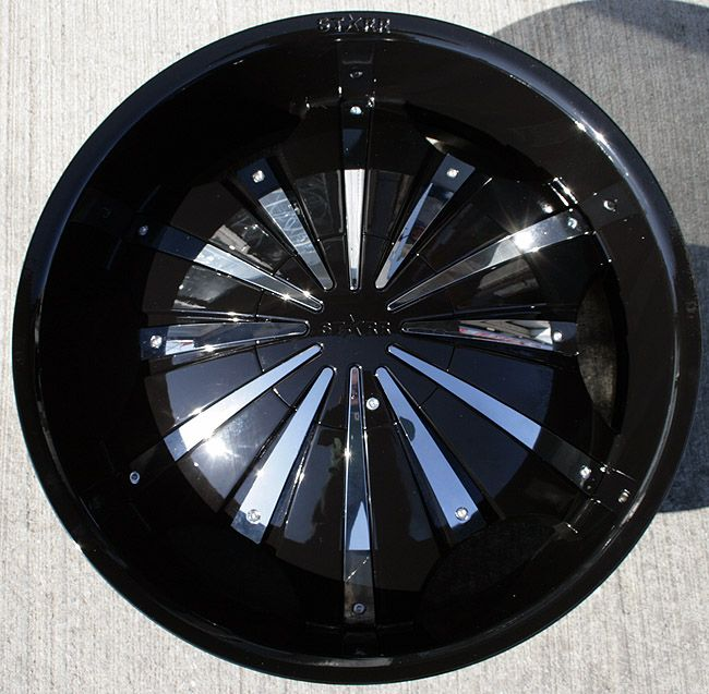 Starr 619 22 Black Rims Wheels GMC Envoy 6x127
