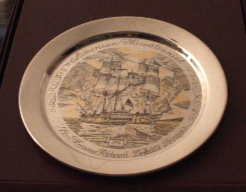 Danbury Mint Sterling Plate American Bicentennial Series Bon Homme