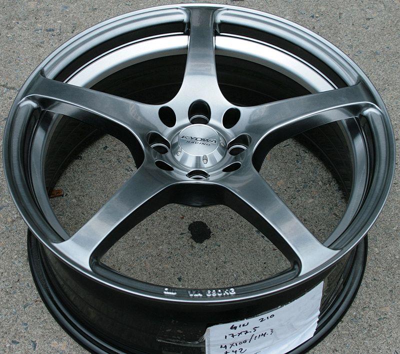 Kyowa 210 17 Silver Rims Wheels Civic Integra Sentra