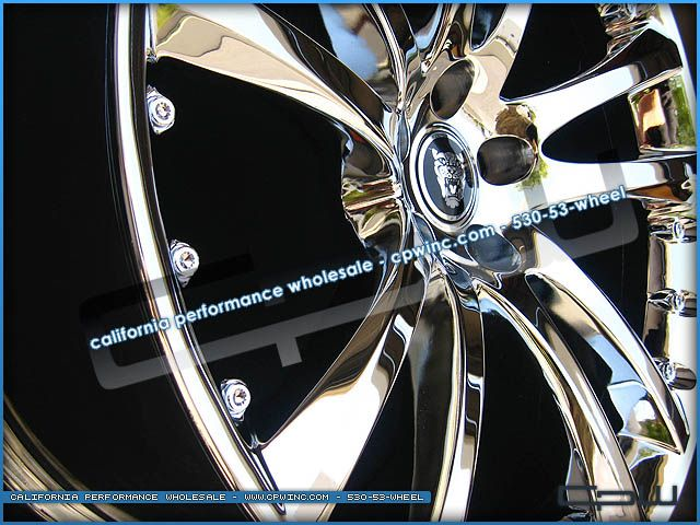 New 20 Senta Chrome Wheels Rims Tires Package Deal Fits 2008 2012