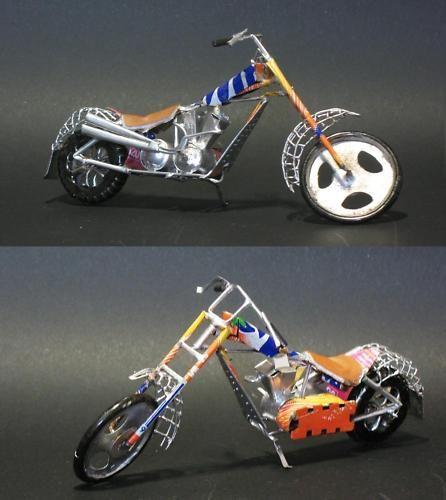MODELL  Motorrad Chopper Harley Shopper Orange County