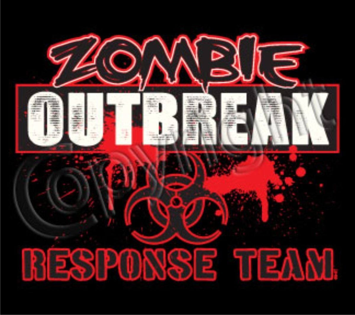 ZOMBIE OUTBREAK RESPONSE TEAM Cool College Zombie Dead Horror Funny T