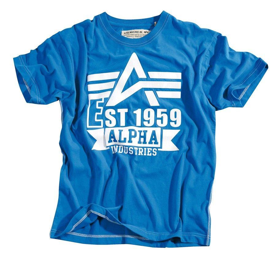 Alpha Industries BW Cargo Shirt White Print T Shirt NEU