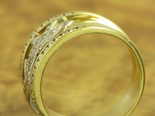18kt 750 GOLD RING MIT 0,51ct DIAMANT / BRILLANT BESATZ DIAMANTRING