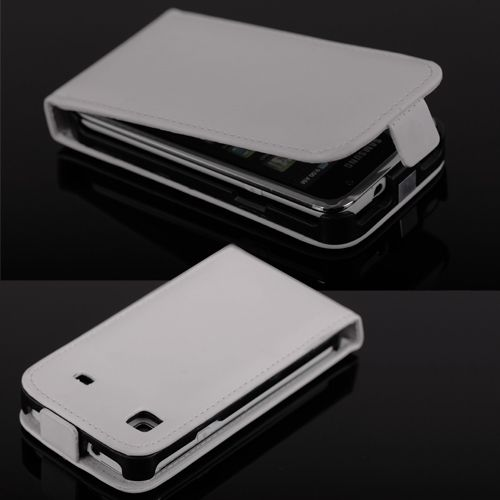 Cell Phone Leather Flip Case Cover Protector White #291