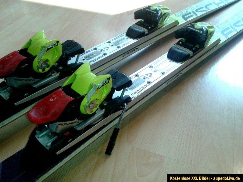 Fischer Worldcup RC Pro Race Carving Ski mit Bindung 180 cm gelb mit
