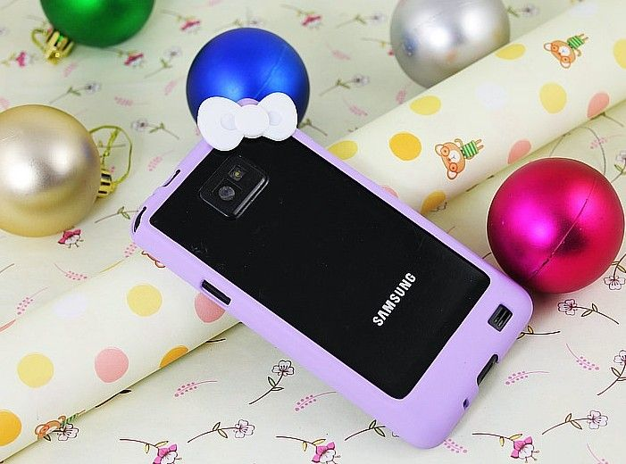 Fashion Cute Hello kitty Bowknot Bumper Frame skin Case Cover For