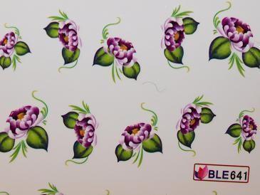 Nail Art Sticker Tattoo One Stroke BLE 641 lila