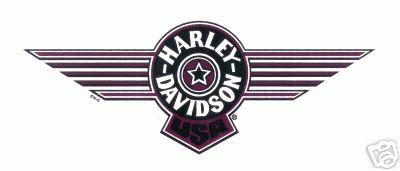 Harley Davidson Aufkkleber 26x10cm Fat Boy Tank Logo Schwarz Rot Black
