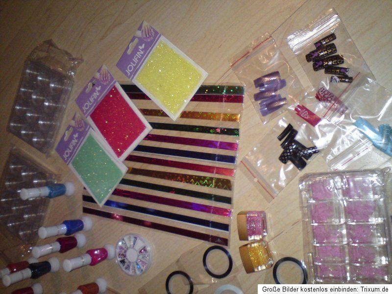 Nagelstudio Auflösung, JOLIFIN,Nail Art Sticker, Stripes,UV Gel Tips
